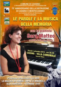 Concerto d pianoforte Le Parole e le Musiche della Memoria.