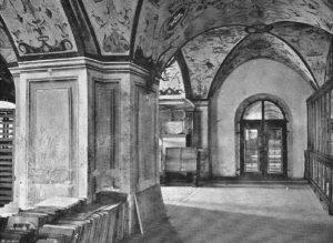 Atelier de litographie, La tipografia di MOntecassino. Fonte: L. Béguloe, Le Mont Cassin et ses travaux d'art, Lyon 1908 (Archivio Alberto Mangiante)