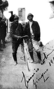 Enrico Toti bersagliere ciclista al fronte.