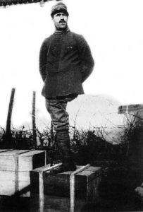 Enrico Toti al fronte.