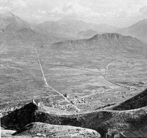 Monte Trocchio visto da una postazione tedesca.