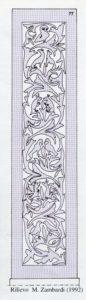Fig. 3: Restituzione grafica dei bassorilievi dello stipite sinistro della porta di San Sebastiano.