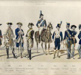 7 Sbardella 1 dall'album di Pietro Galateri di Genola - Armata sarda Uniformi antiche e moderne Torino 1844
