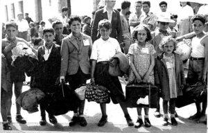 Bambini del Cassinate pronti per la partenza verso il nord.