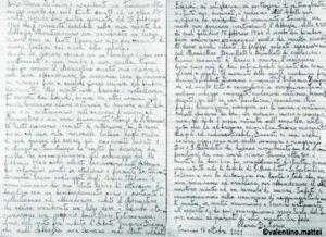 Testimonianza autografa di Clara Mattei nata De Iorio.