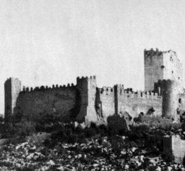 Fig. 2 - Le mura che scendevano dalla Rocca Janula sul versante sud-occidentale.
