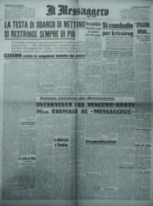 «Il Messaggero», a. 66, n. 43, sabato 19 febbbraio 1944-XXII