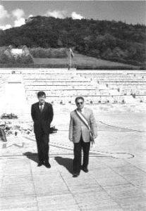 L'ambasciatore Skripko ed il sindaco Scittarelli rendono omaggio ai caduti sepolti nel cimitero polacco di Montecassino.