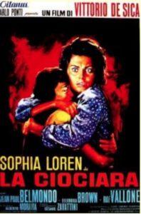 Locandina del film La Ciociara per l' Italia.