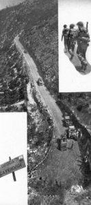 Veduta aerea della strada nel 1944.