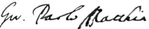 Firma autografa di Gio. Paolo Matthia (Archivio Storico Diocesano - Sora).