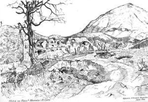 La Masseria Albaneta in un disegno eseguito da un polacco nel 1944.