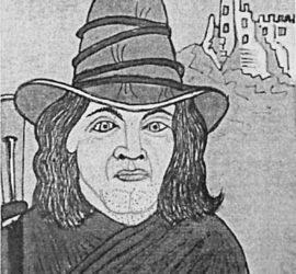 Il brigante Domenico Colessa alias Papone. Disegno di R. Pinchera.