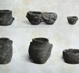 Reperti di monte Puntiglio conservati nel Museo di Montecassino.