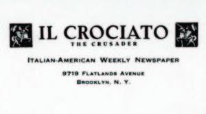 Testata del periodico «Il Crociato-The Crusader».