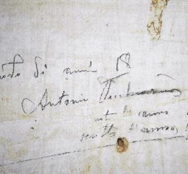 Scritta di Antonio Vecchiarino, risalente al 1914.