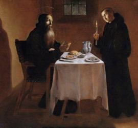La cena di S. Benedetto - Madrid museo del Prado, cat. n. P02600.