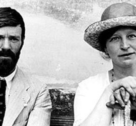 D. H. Lawrence e la moglie Frieda von Richtofen.