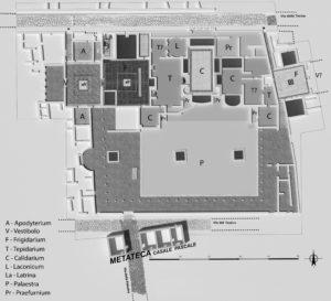 Fig. 2 - Planimetria delle terme (elab. I. Ferrari).