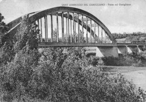 Sant'Ambrogio. Il ponte sul Garigliano costruito negli anni Venti del Novecento.