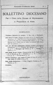 Il «Bollettino Diocesano» nel dopoguerra.