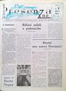 Il 1° numero di «PresenzaXna».