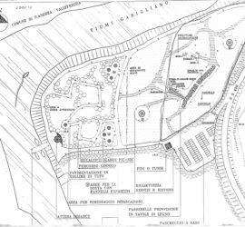 Fig. 2: Il progetto del Parco del Garigliano proposto dalla Soprintendenza archeologica.
