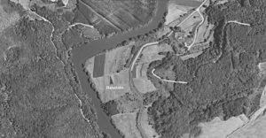 Fig. 4: L'area del sito archeologico racchiusa in un'ansa del fiume.