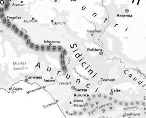 Fig. 7: L'area degli Ausono-Aurunci.