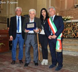 Da sinistra: Benedetto Di Mambro, Giovanni Petrucci, l'assessore alla Cultura Annalisa Fionda, il sindaco di Sant'Elia Fernando Cuozzo (Foto Paolo D'Agostino).