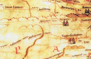 Fig. 2. Particolare della «Tabula Peutingeriana».