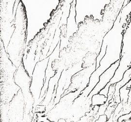 Foto 2: «Colpi di piccone nella Valle dell'Inferno» (Lassale), disegno.