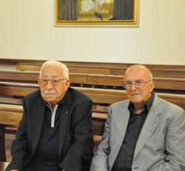Mario Alberigo assieme ad Antonio Grazio Ferraro nella celebrazione del 10 settembre 2013 (foto Alberto Ceccon).