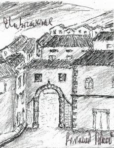 Porta San Biagio (elaborazione Giovanni Petrucci).