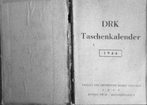 Interno dell'agendina. La sigla DRK indica la Deutsches Rotes Kreuz (Croce Rossa Tedesca).