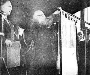 1954: visita del presidente Luigi Einaudi per il decennale della distruzione.
