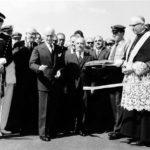 1962: il presidente Antonio Segni inaugura il tratto Frosinone-Caserta dell'Autostrada del Sole.