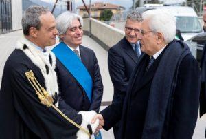 2019: il presidente Sergio Mattarella inaugura l'Anno accademico dell'Università di Cassino e del Lazio meridionale.