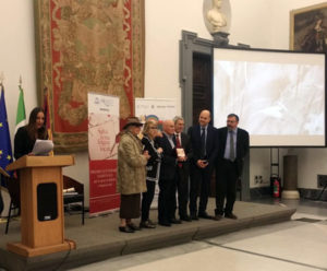 Promoteca del Campidoglio, Roma 21 febbraio 2019. Conferimento del riconoscimento al prof. Luigi Matteo.