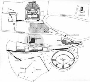 Il mausoleo nel contesto dell'area archeologica di Casinum