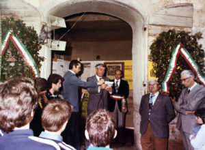 Sant'Elia Fiumerapido, marzo 1978. Giovanni Petrucci commemora, nel cinquantenario dalla scomparsa, Vincenzo Pomella.