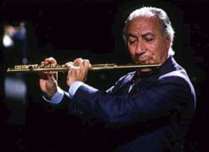 Severino e il suo 'flauto d'oro' (Dal web).