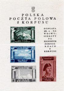 Fig. 10: Foglietto con la serie «Vittorie del 2° Corpo Polacco».