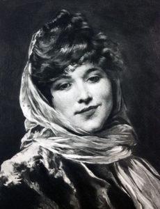 Ferdinand Roybet, Ritratto di Juana Romani (1890).