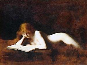 J. J. Henner, Liseuse (1887), Museè d'Orsay, Parigi.