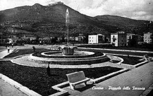 La fontana negli anni '50.