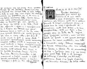 La lettera di Vittorio Arciero alla famiglia.