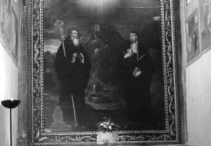 Badia di Arezzo - Quadro raffigurante San Benedetto e Santa Scolastica. Un'opera simile era presente sull'altare della Cripta di Montecassino prima del rifacimento beuronense.