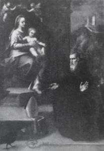 «Visione di San Filippo», Museo Statale di Arezzo. È stato attribuito a Giuseppe Santini, ma sicuramente del Mazzaroppi (Foto dal libro Bernardino Santini di Liletta Fornasari).