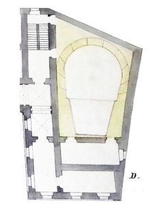 Pianta del Teatro del magistrato a Veroli.